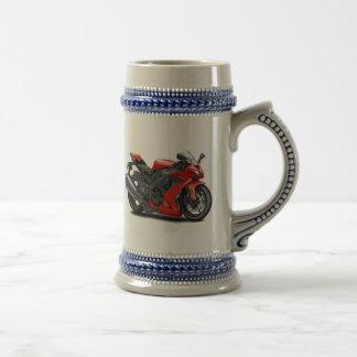 Bici del rojo de Ninja Jarra De Cerveza