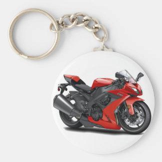Bici del rojo de Ninja Llavero Personalizado