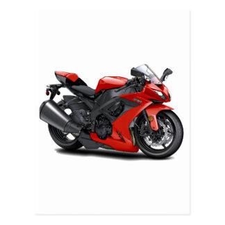 Bici del rojo de Ninja Postales