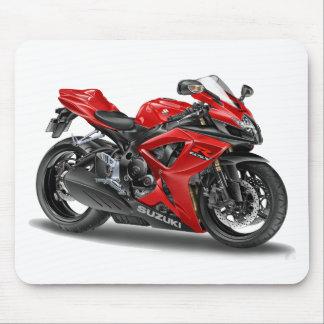 bici del rojo del suzuki GSX-R600 Alfombrillas De Raton