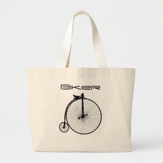 Bici del vintage bolsa tela grande