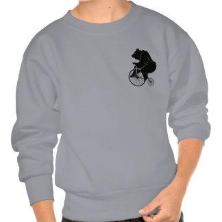 Bici del vintage del montar a caballo del oso jersey