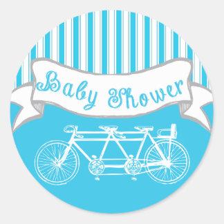 Bici del vintage para el pegatina de la ducha de