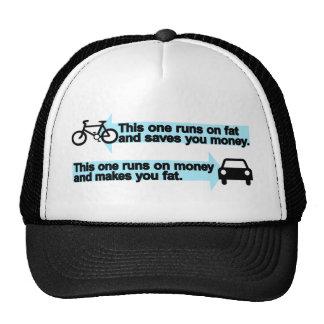 Bici divertida contra el coche gorras