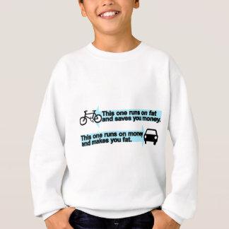 Bici divertida contra el coche sudadera