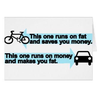 Bici divertida contra el coche tarjetas