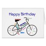 Bici divertida del cumpleaños de la edad, completa tarjetón