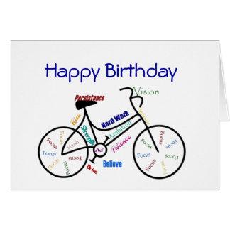Bici divertida del cumpleaños de la edad, completa tarjeta de felicitación
