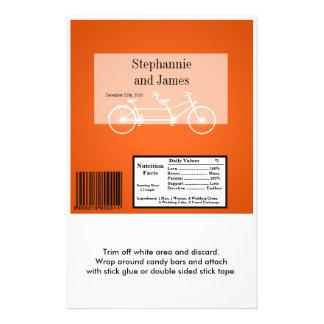 """Bici doble anaranjada de la envoltura grande de la folleto 5.5"""" x 8.5"""""""