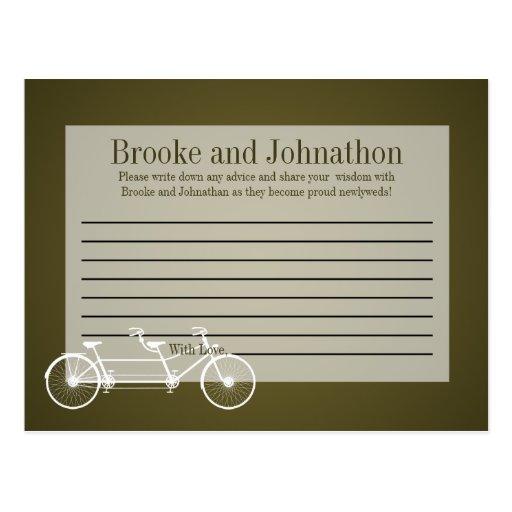 Bici doble caprichosa de Brown de la tarjeta progr Tarjetas Postales
