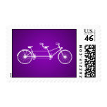 Bici doble púrpura caprichosa de 20 sellos
