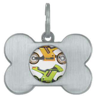 Bici eléctrica de la motocicleta del concepto placas de nombre de mascota