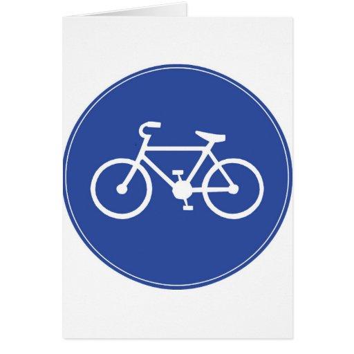 Bici en azul tarjeta de felicitación