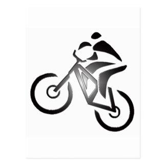 Bici en cubierta postales