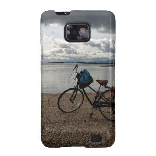 Bici en la playa samsung galaxy SII carcasas
