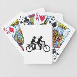 Bici en tándem de la bicicleta barajas de cartas