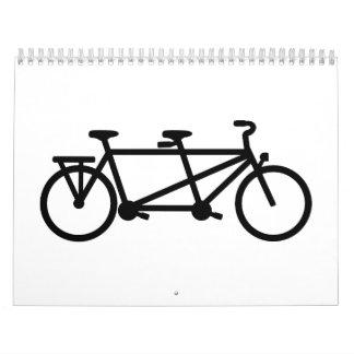 Bici en tándem de la bicicleta calendarios de pared