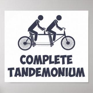 Bici en tándem Tandemonium completo Póster