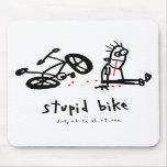 Bici estúpida alfombrilla de ratones