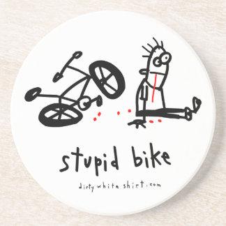 Bici estúpida posavaso para bebida
