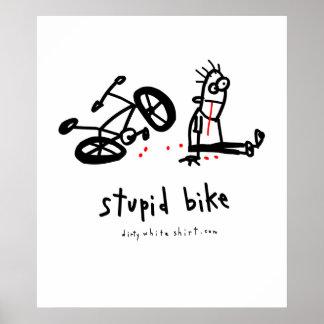 Bici estúpida póster