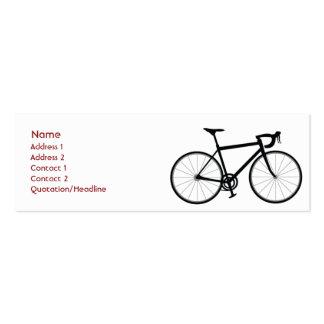 Bici - flaca tarjetas de visita mini