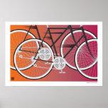 Bici-Impresión del camino Posters
