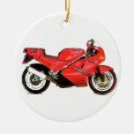 Bici italiana en rojo ornamento para reyes magos