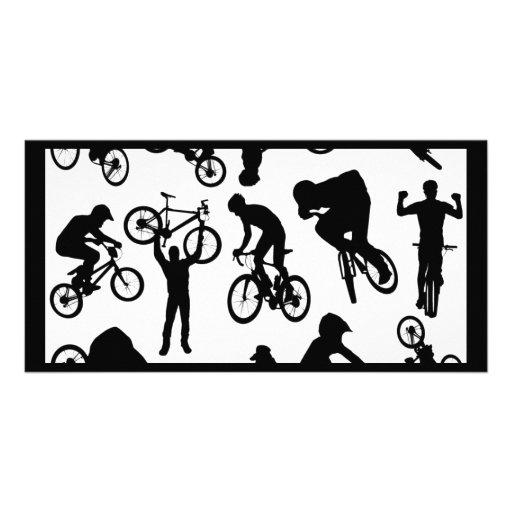 bici-jinetes tarjetas con fotos personalizadas