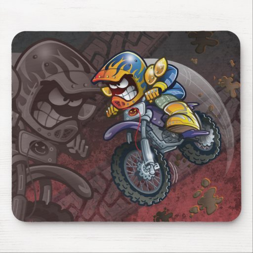Bici Mike Mousepad de la suciedad Tapete De Ratón