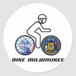 Bici Milwaukee Pegatinas Redondas