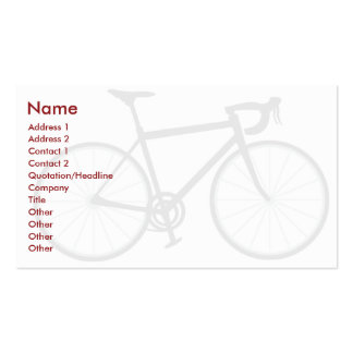 Bici - negocio tarjetas de visita