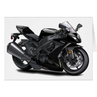 Bici negra de Ninja Felicitación