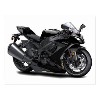 Bici negra de Ninja Postal