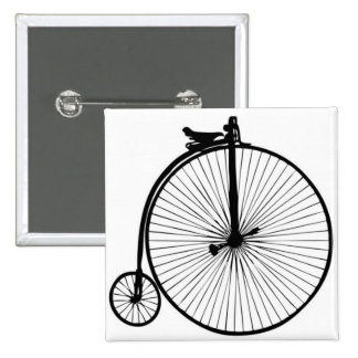 Bici negra del vintage del comino del penique pin cuadrada 5 cm