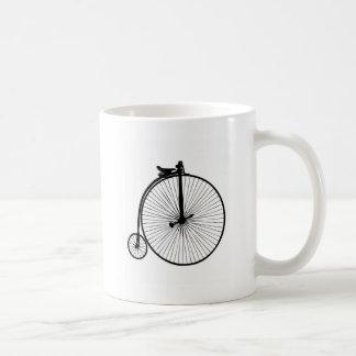 Bici negra del vintage del comino del penique tazas de café