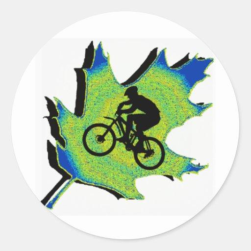 Bici nueva Wellington Pegatina Redonda