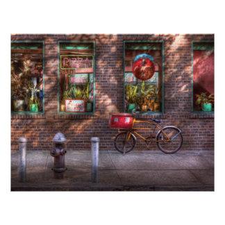 """Bici - NY - Chelsea - la bici de la entrega Folleto 8.5"""" X 11"""""""