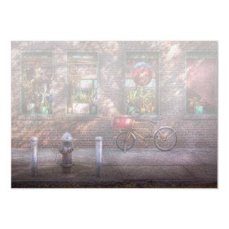 """Bici - NY - Chelsea - la bici de la entrega Invitación 5"""" X 7"""""""