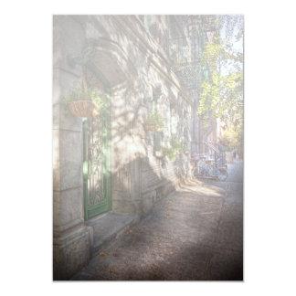 """Bici - NY - Greenwich Village - el distrito verde Invitación 5"""" X 7"""""""