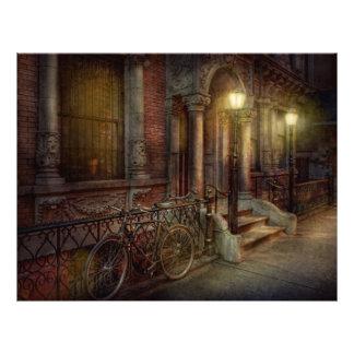 Bici - NY - Greenwich Village - en el pueblo Flyer A Todo Color
