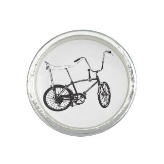 Bici original de la escuela vieja anillo con foto