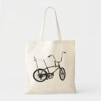 Bici original de la escuela vieja bolsa tela barata