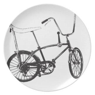 Bici original de la escuela vieja platos de comidas