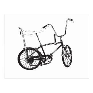 Bici original de la escuela vieja postal