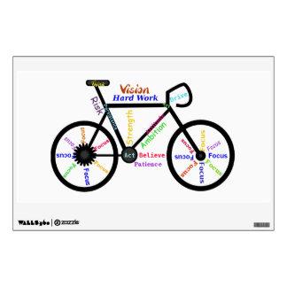 Bici, palabras de motivación del ciclo para el fan vinilo adhesivo