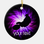 Bici púrpura fresca de la suciedad ornamentos de navidad
