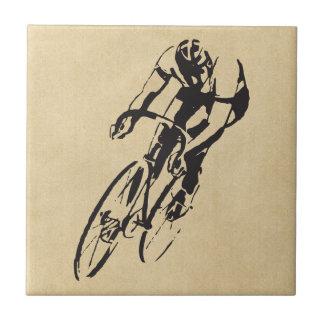 Bici que compite con el velódromo azulejo cuadrado pequeño