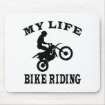 Bici que monta mi vida alfombrilla de ratones