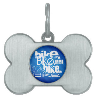 Bici; Rayas azules reales Biking Placas De Nombre De Mascota